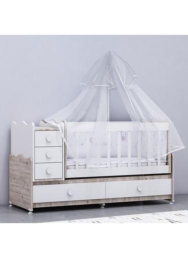 Garaj Home Garaj Home Melina Lüks Uyku Setli Beşik Kombini - Soho/ Uyku Seti Gri Gri